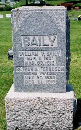 BAILY, WILLIAM V. - Tazewell County, Illinois | WILLIAM V. BAILY - Illinois Gravestone Photos