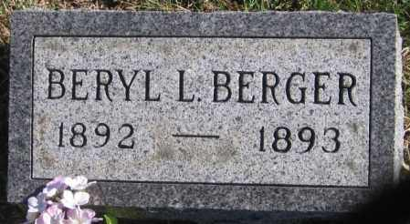 BERGER, BERYL L - Tazewell County, Illinois | BERYL L BERGER - Illinois Gravestone Photos