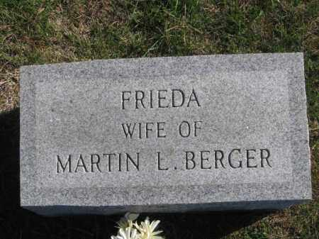 BERGER, FRIEDA - Tazewell County, Illinois | FRIEDA BERGER - Illinois Gravestone Photos