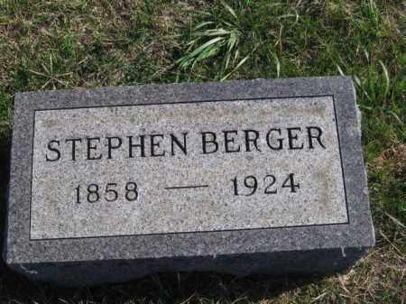 BERGER, STEPHEN - Tazewell County, Illinois   STEPHEN BERGER - Illinois Gravestone Photos