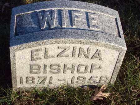 BISHOP, ELZINA - Tazewell County, Illinois   ELZINA BISHOP - Illinois Gravestone Photos