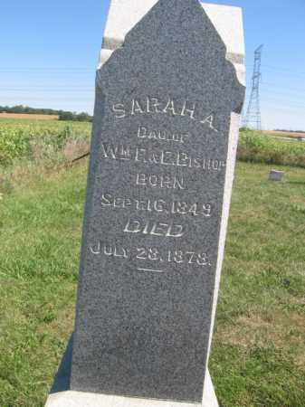 BISHOP, SARAH A - Tazewell County, Illinois | SARAH A BISHOP - Illinois Gravestone Photos