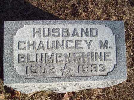 BLUMENSHINE, CHAUNCEY M - Tazewell County, Illinois | CHAUNCEY M BLUMENSHINE - Illinois Gravestone Photos