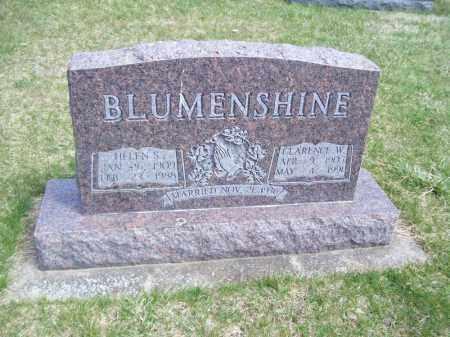 BLUMENSHINE, HELEN S - Tazewell County, Illinois | HELEN S BLUMENSHINE - Illinois Gravestone Photos