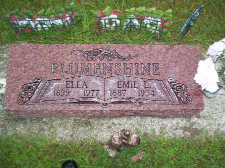 BLUMENSHINE, EMIL LEE - Tazewell County, Illinois | EMIL LEE BLUMENSHINE - Illinois Gravestone Photos