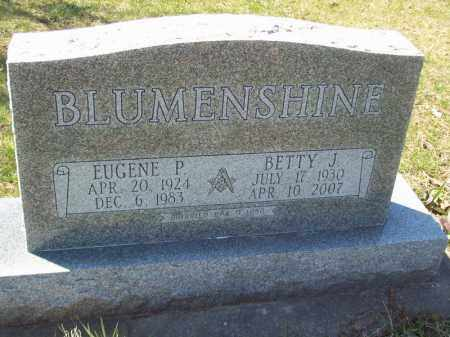 BLUMENSHINE, EUGENE P - Tazewell County, Illinois | EUGENE P BLUMENSHINE - Illinois Gravestone Photos