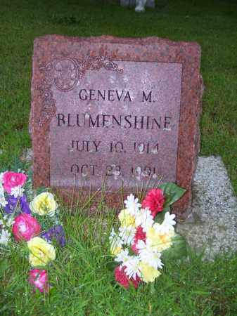BLUMENSHINE, GENEVA M - Tazewell County, Illinois | GENEVA M BLUMENSHINE - Illinois Gravestone Photos