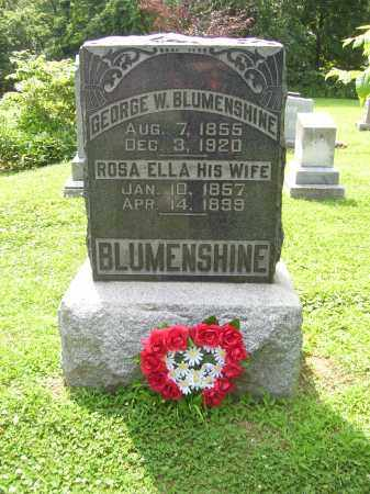BLUMENSHINE, ROSA ELLA - Tazewell County, Illinois | ROSA ELLA BLUMENSHINE - Illinois Gravestone Photos