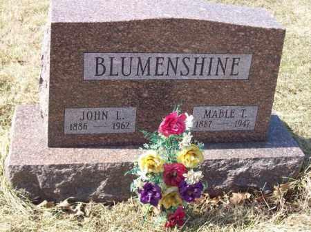BLUMENSHINE, JOHN L - Tazewell County, Illinois | JOHN L BLUMENSHINE - Illinois Gravestone Photos