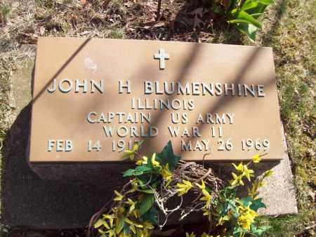 BLUMENSHINE, JOHN H - Tazewell County, Illinois | JOHN H BLUMENSHINE - Illinois Gravestone Photos