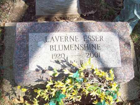 BLUMENSHINE, LAVERNE ESSER - Tazewell County, Illinois | LAVERNE ESSER BLUMENSHINE - Illinois Gravestone Photos