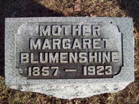 BLUMENSHINE, MARGARET - Tazewell County, Illinois | MARGARET BLUMENSHINE - Illinois Gravestone Photos