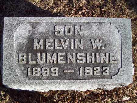 BLUMENSHINE, MELVIN W - Tazewell County, Illinois | MELVIN W BLUMENSHINE - Illinois Gravestone Photos