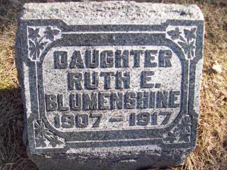 BLUMENSHINE, RUTH E - Tazewell County, Illinois | RUTH E BLUMENSHINE - Illinois Gravestone Photos