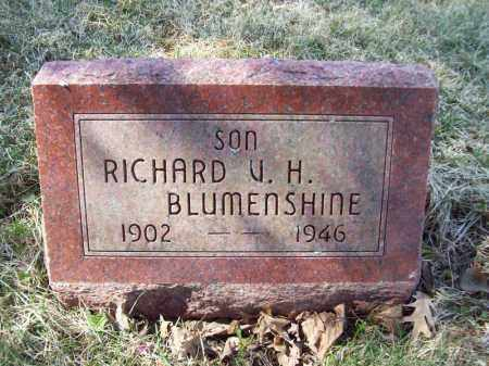 BLUMENSHINE, RICHARD V H - Tazewell County, Illinois | RICHARD V H BLUMENSHINE - Illinois Gravestone Photos