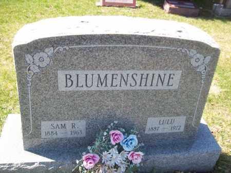 BLUMENSHINE, SAM R - Tazewell County, Illinois | SAM R BLUMENSHINE - Illinois Gravestone Photos