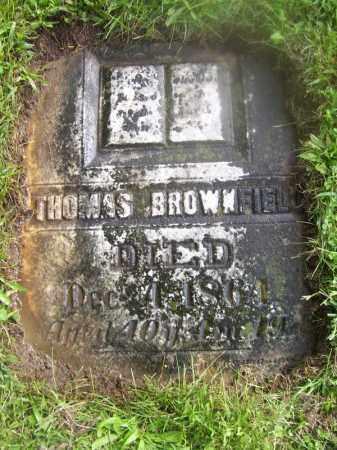BROWNFIELD, THOMAS - Tazewell County, Illinois | THOMAS BROWNFIELD - Illinois Gravestone Photos