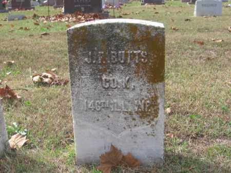 BUTTS, J.F. - Tazewell County, Illinois | J.F. BUTTS - Illinois Gravestone Photos