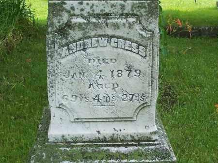 CRESS, ANDREW - Tazewell County, Illinois   ANDREW CRESS - Illinois Gravestone Photos