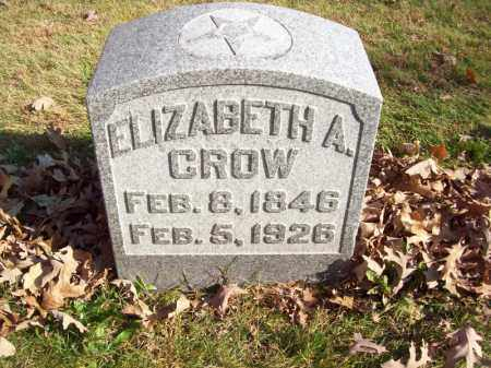 CROW, ELIZABETH A - Tazewell County, Illinois | ELIZABETH A CROW - Illinois Gravestone Photos