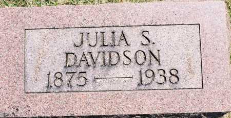 DAVIDSON, JULIA S. - Tazewell County, Illinois   JULIA S. DAVIDSON - Illinois Gravestone Photos