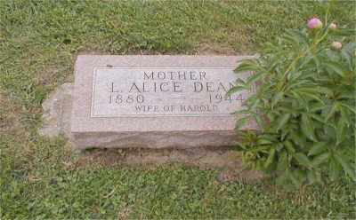 DEAN, ALICE LENORA - Tazewell County, Illinois | ALICE LENORA DEAN - Illinois Gravestone Photos