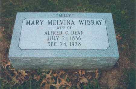 WIBRAY DEAN, MARY MELVINA - Tazewell County, Illinois | MARY MELVINA WIBRAY DEAN - Illinois Gravestone Photos