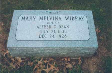 DEAN, MARY MELVINA - Tazewell County, Illinois | MARY MELVINA DEAN - Illinois Gravestone Photos