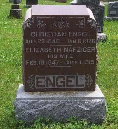 NAFZIGER ENGEL, ELIZABETH - Tazewell County, Illinois | ELIZABETH NAFZIGER ENGEL - Illinois Gravestone Photos