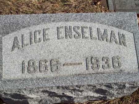 ENSELMAN, ALICE - Tazewell County, Illinois | ALICE ENSELMAN - Illinois Gravestone Photos