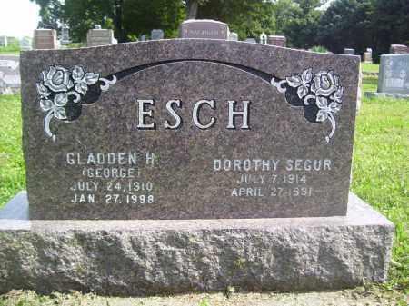 ESCH, DOROTHY SEGUR - Tazewell County, Illinois | DOROTHY SEGUR ESCH - Illinois Gravestone Photos