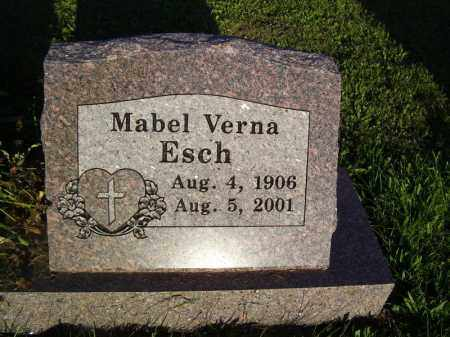 ESCH, MABEL VERNA - Tazewell County, Illinois | MABEL VERNA ESCH - Illinois Gravestone Photos