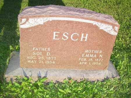 ESCH, SOL D - Tazewell County, Illinois | SOL D ESCH - Illinois Gravestone Photos