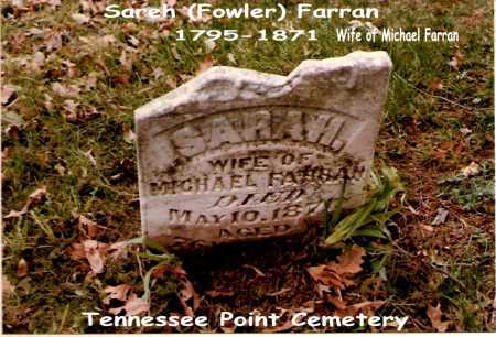 FOWLER FARRAN, SARAH - Tazewell County, Illinois   SARAH FOWLER FARRAN - Illinois Gravestone Photos