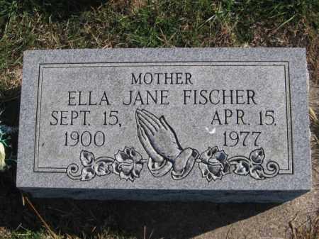 FISCHER, ELLA JANE - Tazewell County, Illinois | ELLA JANE FISCHER - Illinois Gravestone Photos