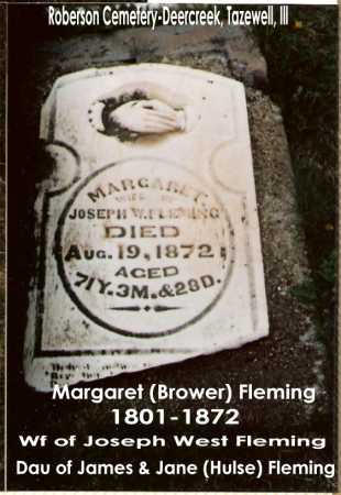 (BROWER FLEMING, MARGARET - Tazewell County, Illinois | MARGARET (BROWER FLEMING - Illinois Gravestone Photos