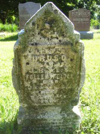 FOLLENWEIDER, (LITTLE) DRUSO - Tazewell County, Illinois | (LITTLE) DRUSO FOLLENWEIDER - Illinois Gravestone Photos