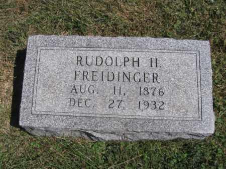 FREIDINGER, RUDOLPH H - Tazewell County, Illinois | RUDOLPH H FREIDINGER - Illinois Gravestone Photos