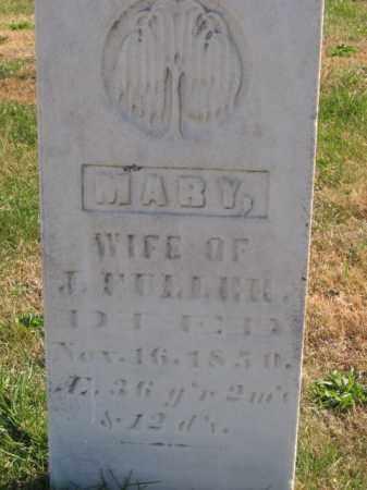 FULLER, MARY - Tazewell County, Illinois   MARY FULLER - Illinois Gravestone Photos