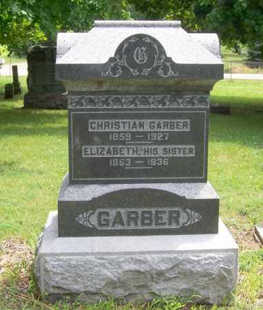 GARBER, ELIZABETH - Tazewell County, Illinois | ELIZABETH GARBER - Illinois Gravestone Photos