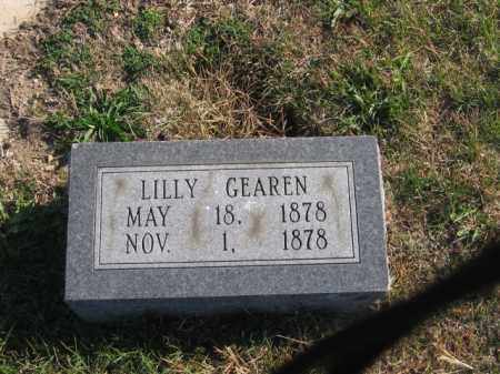 GEAREN, LILLY - Tazewell County, Illinois | LILLY GEAREN - Illinois Gravestone Photos