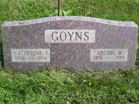 GOYNS, KATHERINE I - Tazewell County, Illinois | KATHERINE I GOYNS - Illinois Gravestone Photos