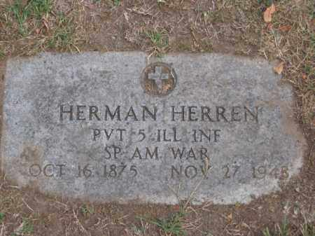 HERREN, HERMAN - Tazewell County, Illinois   HERMAN HERREN - Illinois Gravestone Photos