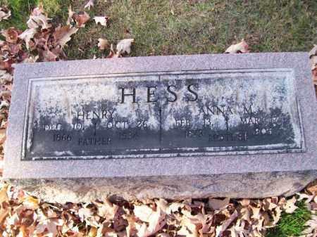 HESS, ANNA M - Tazewell County, Illinois   ANNA M HESS - Illinois Gravestone Photos