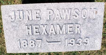 PAWSON HEXAMER, MARY JUNE - Tazewell County, Illinois | MARY JUNE PAWSON HEXAMER - Illinois Gravestone Photos