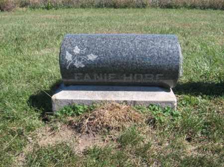 HOBE, FANIE - Tazewell County, Illinois | FANIE HOBE - Illinois Gravestone Photos