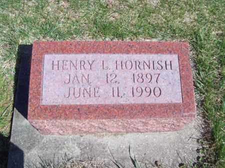 HORNISH, HENRY L - Tazewell County, Illinois | HENRY L HORNISH - Illinois Gravestone Photos