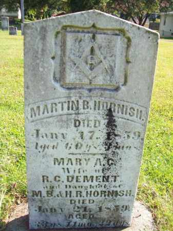 HORNISH, MARTIN B - Tazewell County, Illinois | MARTIN B HORNISH - Illinois Gravestone Photos