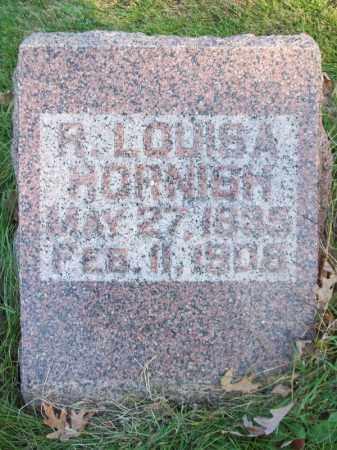 HORNISH, R. LOUISA - Tazewell County, Illinois | R. LOUISA HORNISH - Illinois Gravestone Photos