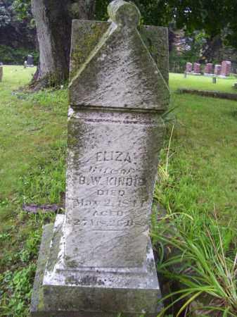 KINDIG, ELIZA - Tazewell County, Illinois | ELIZA KINDIG - Illinois Gravestone Photos